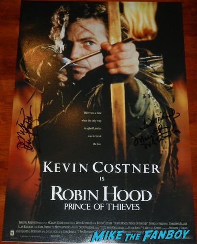 alan rickman signed autograph robin hood prince of thieves poster