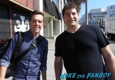 ed helms signing autographs fan photo selfie 6