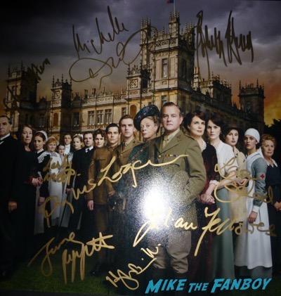hugh bonneville signed autograph downton abbey cast photo