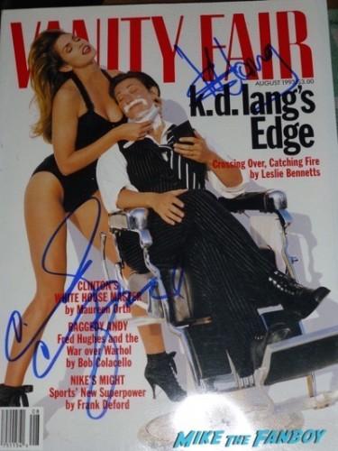 k.d. lang signed autograph vanity fair magazine 1
