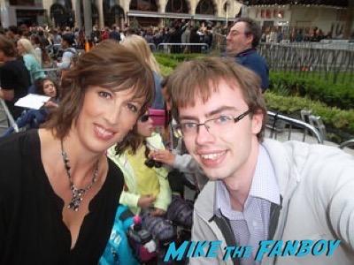 Miranda Hart spy london premiere melissa mccarthy signing autographs 19