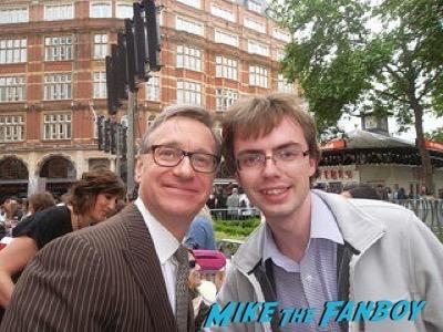 Paul Feig signing autographs spy london premiere melissa mccarthy signing autographs 9