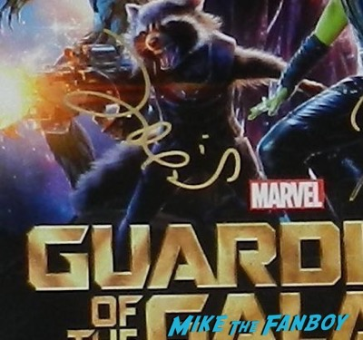 zoe saldana signed autograph guardians of the galaxy mini poster