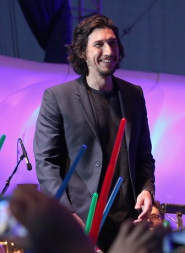 SAN DIEGO, CA - JULY 10:  Actors Adam Driver and more than 6000 fans enjoyed a surprise `Star Wars` Fan Concert performed by the San Diego Symphony,  featuring the classic `Star Wars` music of composer John Williams, at the Embarcadero Marina Park South on July 10, 2015 in San Diego, California.  (Photo by Jesse Grant/Getty Images for Disney) *** Local Caption *** Adam Driver