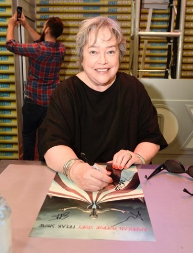 Kathy Bates at the 'American Horror Story' booth signing during Comic-Con International 2015 at the San Diego Convention Center on July 12, 2015 in San Diego, California. Cr: Alan Hess/PictureGroup/FX