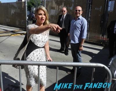 Christina Applegate signing autographs for fans jimmy kimmel live 2015 2