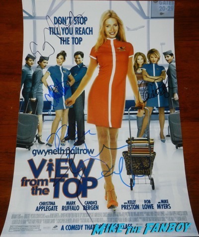 Christina Applegate signed autograph a View From The Top Poster