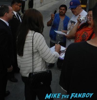 Alex Morgan signing autographs jimmy kimme live 12