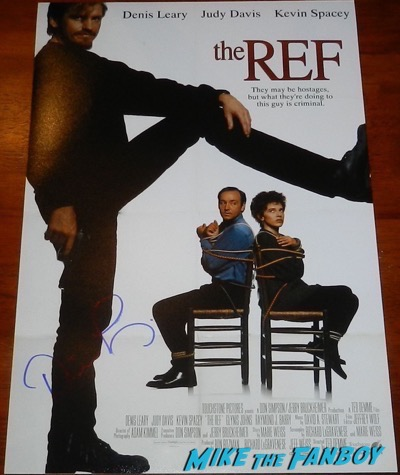 Denis Leary the ref mini poster signed autograph