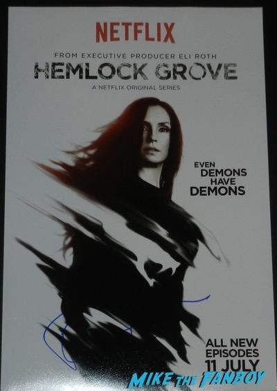 Famke Janssen signed autograph hemlock grove poster