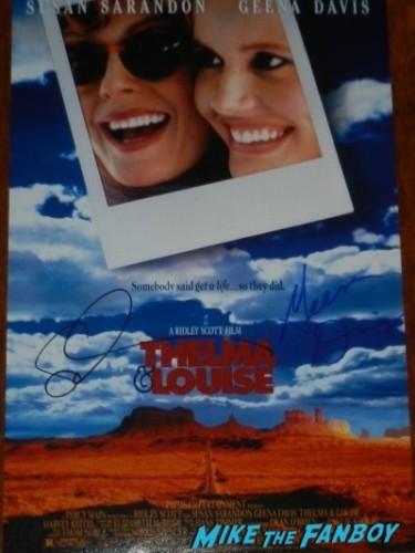 Geena Davis susan sarandon signed autograph thelma and louise poster