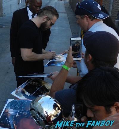 Jai Courtney signing autographs jimmy kimmel live 2015 16