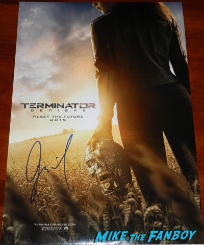 Jai Courtney signed autograph terminator poster