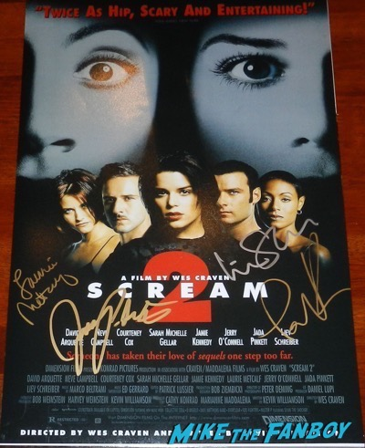 Jada Pinkett Smith signed autograph scream 2 mini poster
