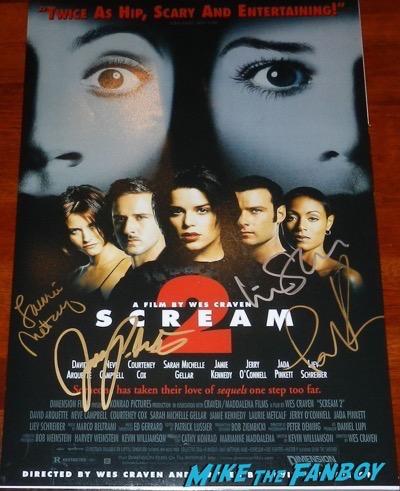 Jada Pinkett Smith signed autograph scream 2 mini poster