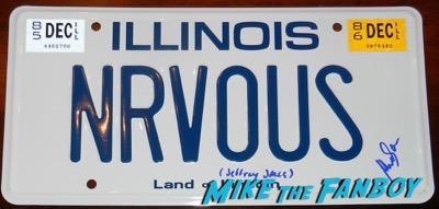 Mia Sara signed ferris bueller license plate
