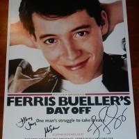 Mia Sara signed ferris bueller poster