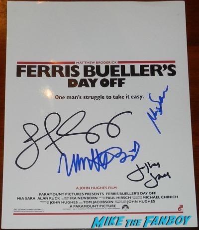 Mia Sara signed ferris bueller screening invite