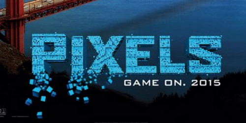 pixels movie poster logo