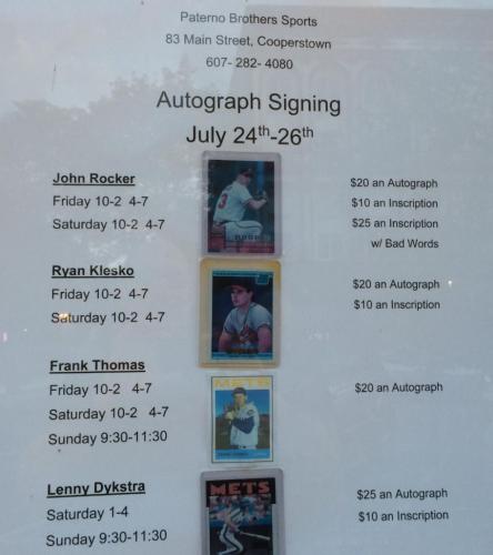 rock rocker curse words autograph prices