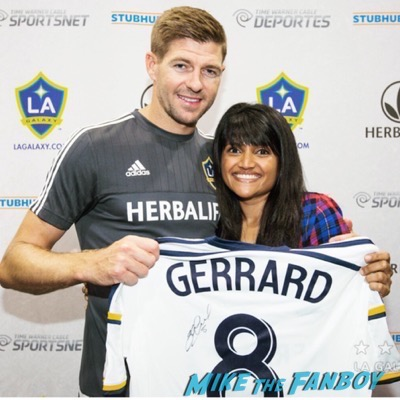Steven Gerrard meet and greet LA Galaxy practice 5
