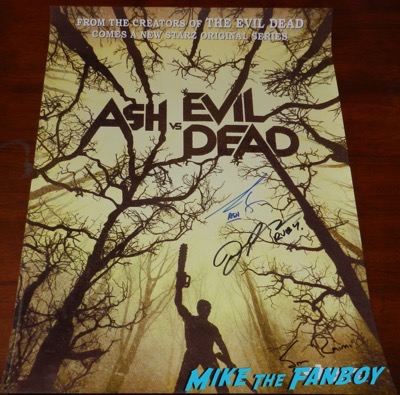 ash vs the evil dead signed autograph comic con special edition poster signed