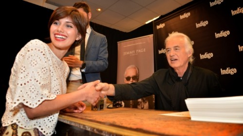 jimmy page stamping autographs
