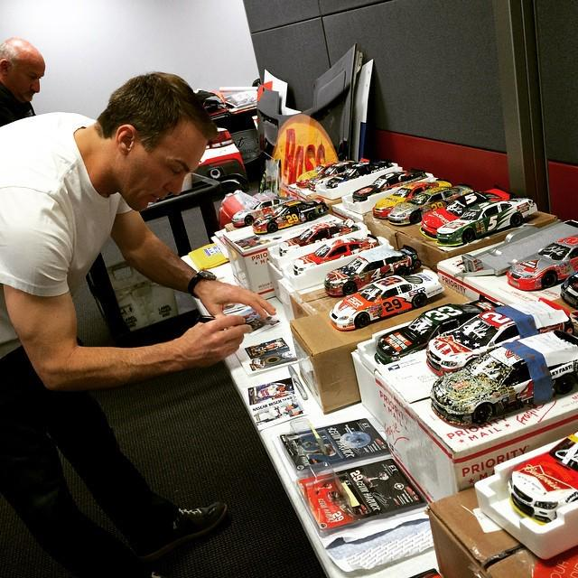 Kevin Harvick signing autographs fanmail