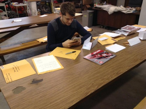 landon Cassill signing autographs fanmail