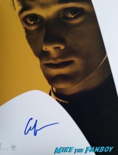 anton yelchin signed autograph photo