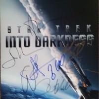 anton yelchin signed autograph star trek poster