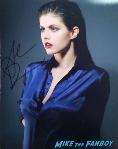 Alexandra Daddario signed autograph photo