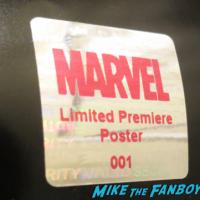 Fake signed autograph hologram premiere posters marvel 2