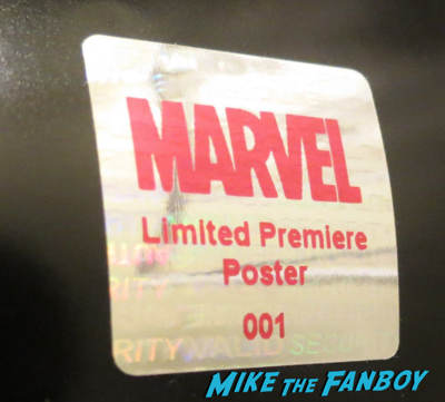 Fake signed autograph hologram premiere posters marvel 2