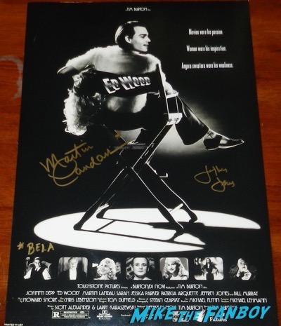 martin landau signed autograph ed wood poster jeffrey jones