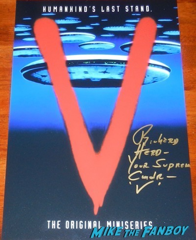 v the original miniseries signed autograph richard herd