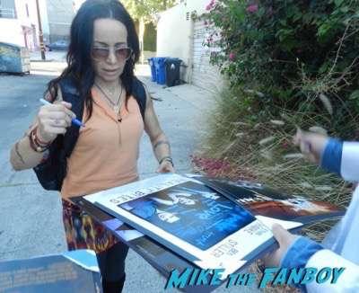 Janeane Garofalo meeting fans signing autographs 2015 wet hot 2