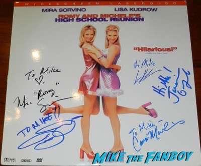 Janeane Garofalo lisa kudrow mira sorvino signed romy and michele laserdisc