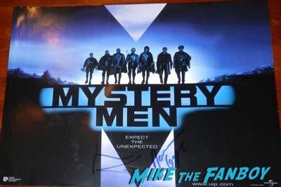 Janeane Garofalo signed autograph mystery men poster