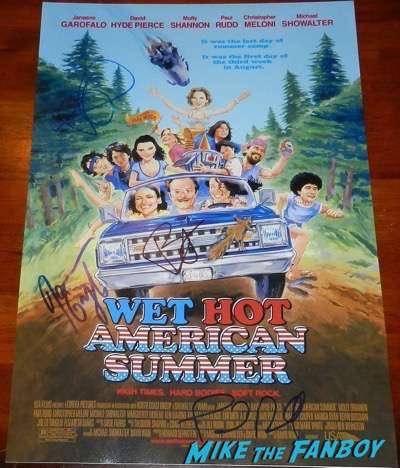 Janeane Garofalo signed wet hot american summer poster
