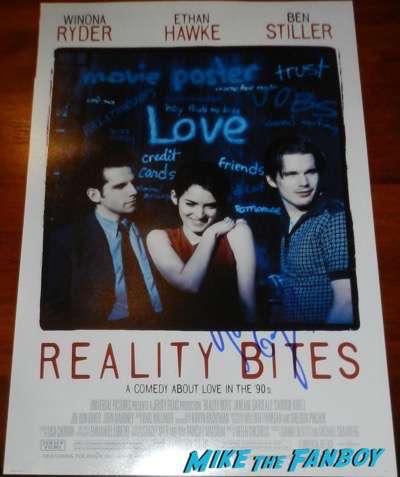 Janeane Garofalo signed reality bites poster