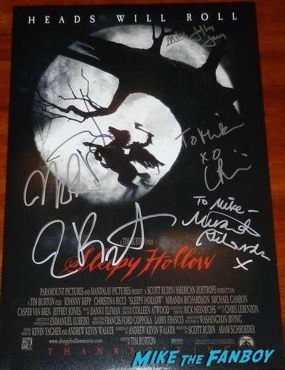 Jeffrey Jones signed autograph sleepy hollow poster