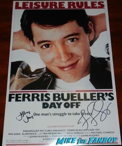 Jeffrey Jones signed autograph ferris bueller poster