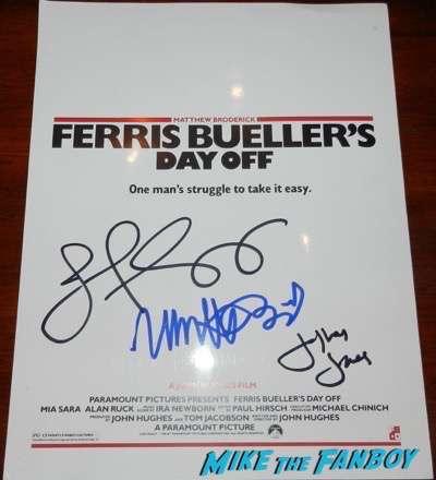 Jeffrey Jones signed autograph ferris bueller screening program