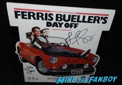 Jeffrey Jones signed autograph ferris bueller counter standee stand