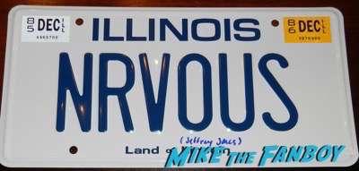 Jeffrey Jones signed autograph ferris bueller license plate