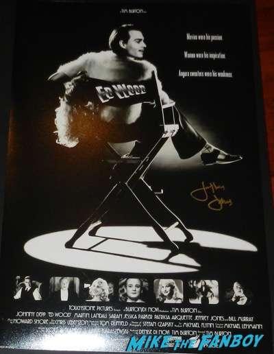 Jeffrey Jones signed autograph ed wood  poster