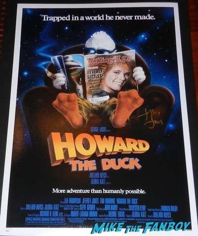 Jeffrey Jones signed autograph howard the duck poster