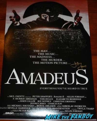 Jeffrey Jones signed autograph amadeus poster