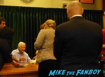 Jimmy Carter Book Signing Vroman's Pasadena CA Autograph Signed 2